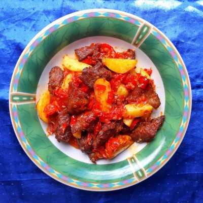 Step 9 Balado Daging Sapi dan Kentang