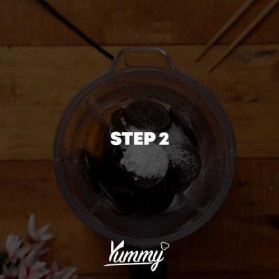 Step 2 Dorayaki Hitam Lumut
