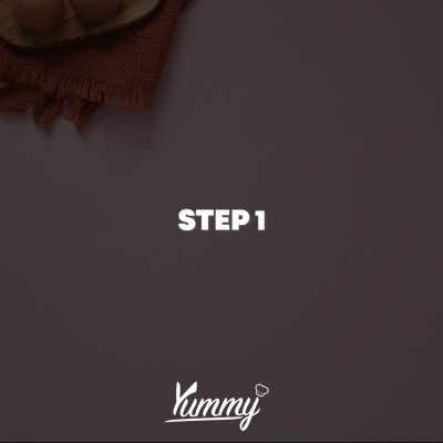 Step 1 Bolu Kopi Crumble