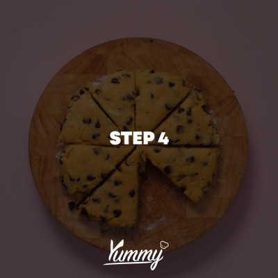 Step 4 Peanut Butter Choco Scones