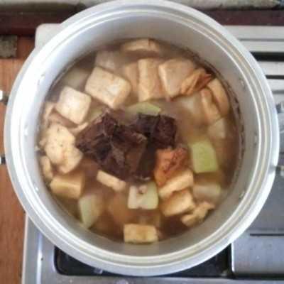 Step 10 Rawon Daging Kenti Tahu
