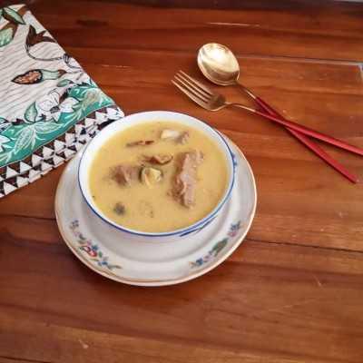 Step 4 Gulai Kambing Bumbu Kuning #JelajahBarat