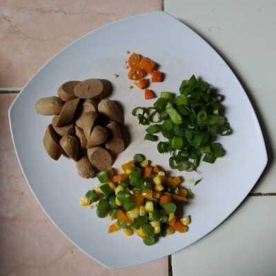 Step 1 Nasi Goreng Sosis
