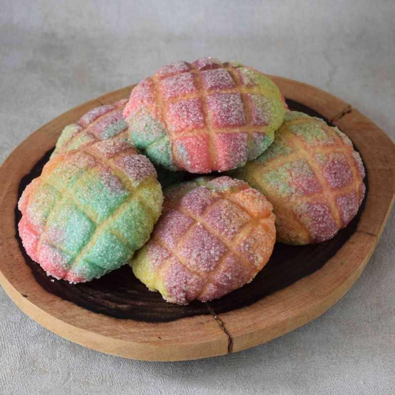 Mini Melon Pan Rainbow #DiRecookYummy