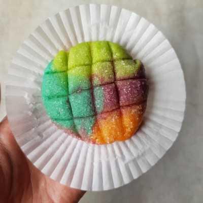 Step 9 Mini Melon Pan Rainbow #DiRecookYummy