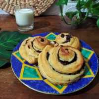 Chocolate Roll Croissant #DiRecookYummy