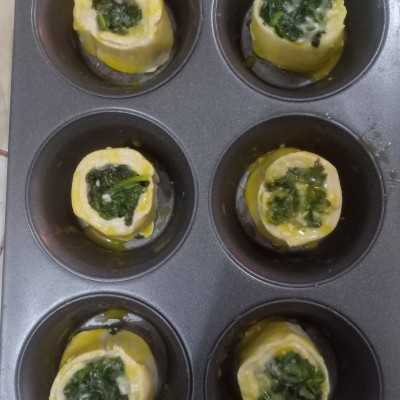 Step 5 Spinach Roll #DiRecookYummy