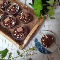 Puding Coklat Remah Wafer #DiRecookYummy