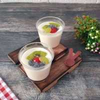Puding Sutera Topping Buah #DiRecookYummy